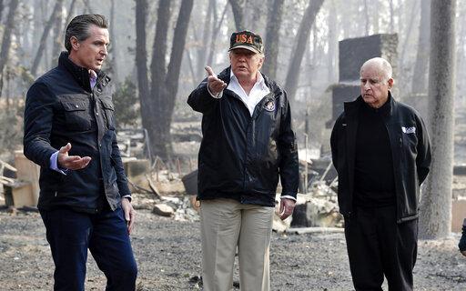 Gavin Newsom, Donald Trump, Jerry Brown