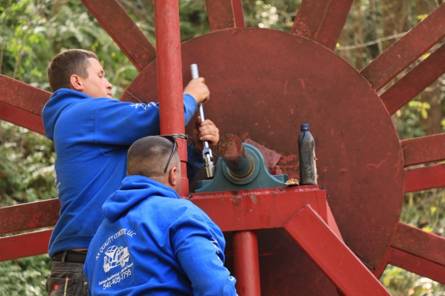 niagara heights water wheel repair