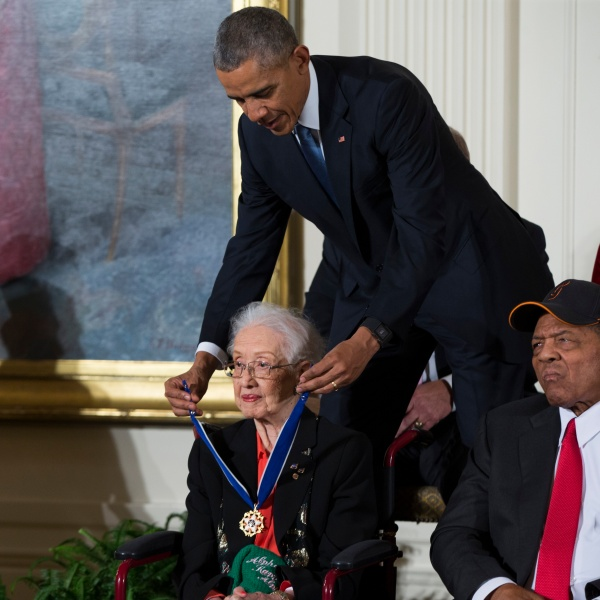 Barack Obama, Katherine Johnson, Willie Mays