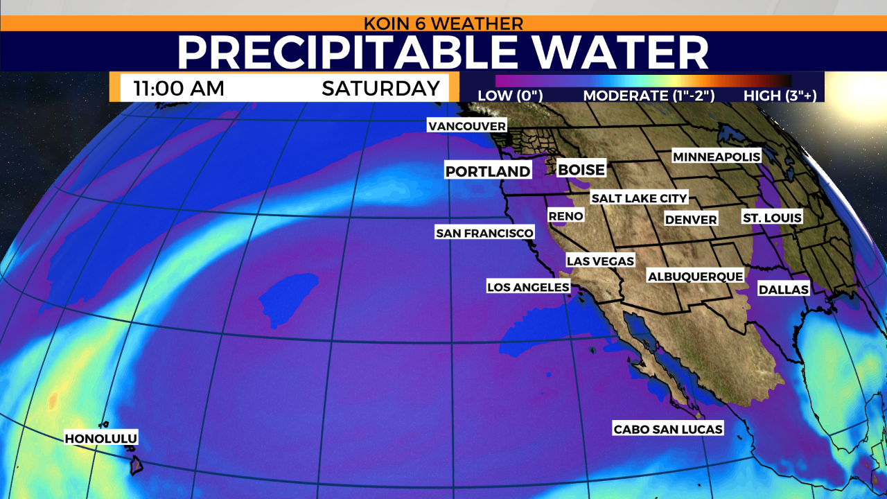 Weekend plans? Rain with a lurking atmospheric river nearing Oregon