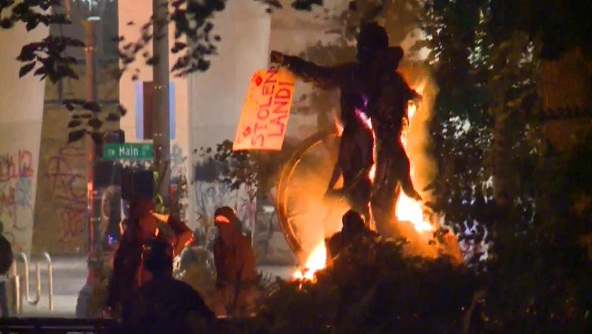 4th Riot In 5 Nights In Downtown Portland 13 Arrested Koin Com