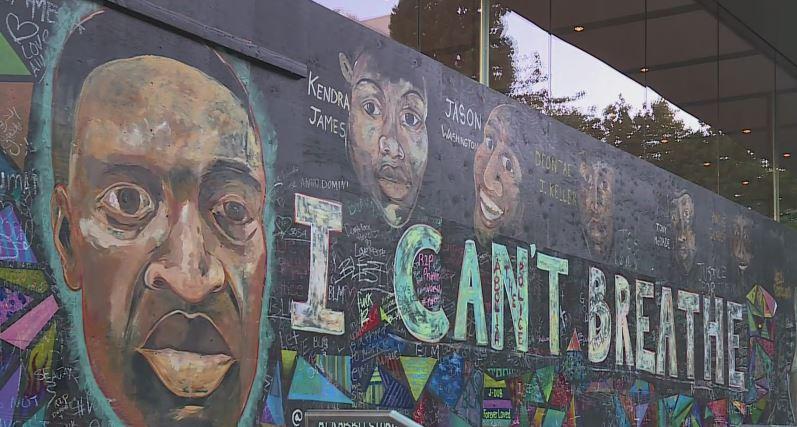 George Floyd Mural Repaired After Vandalism Koin Com