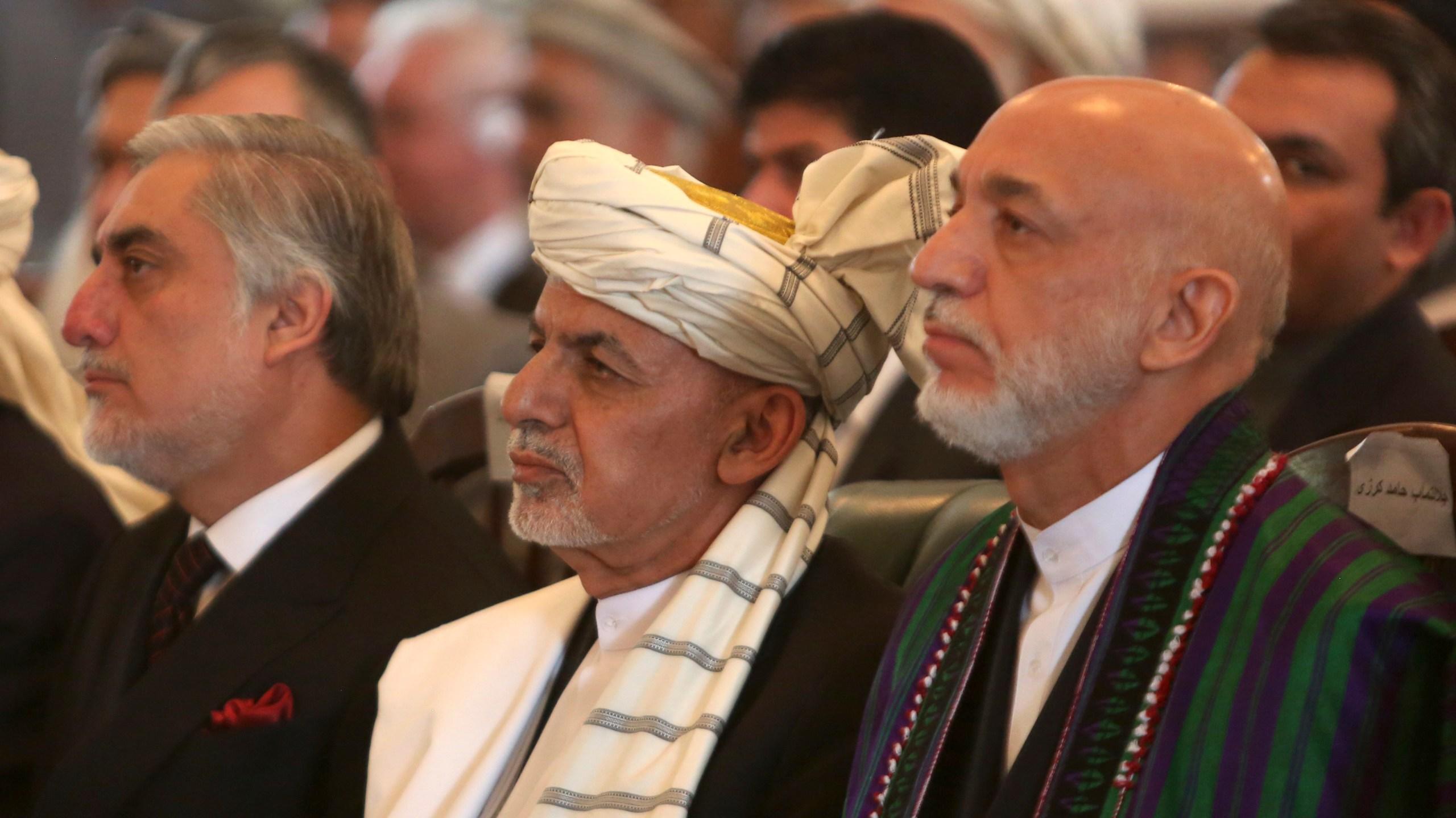 Ashraf Ghani, Hamid Karzai, Abdullah Abdullah