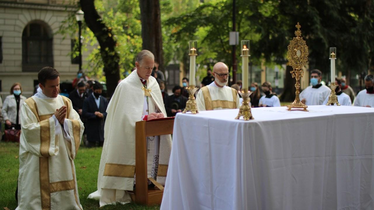 A Portland exorcism? Archbishop prays evil away after months of unrest