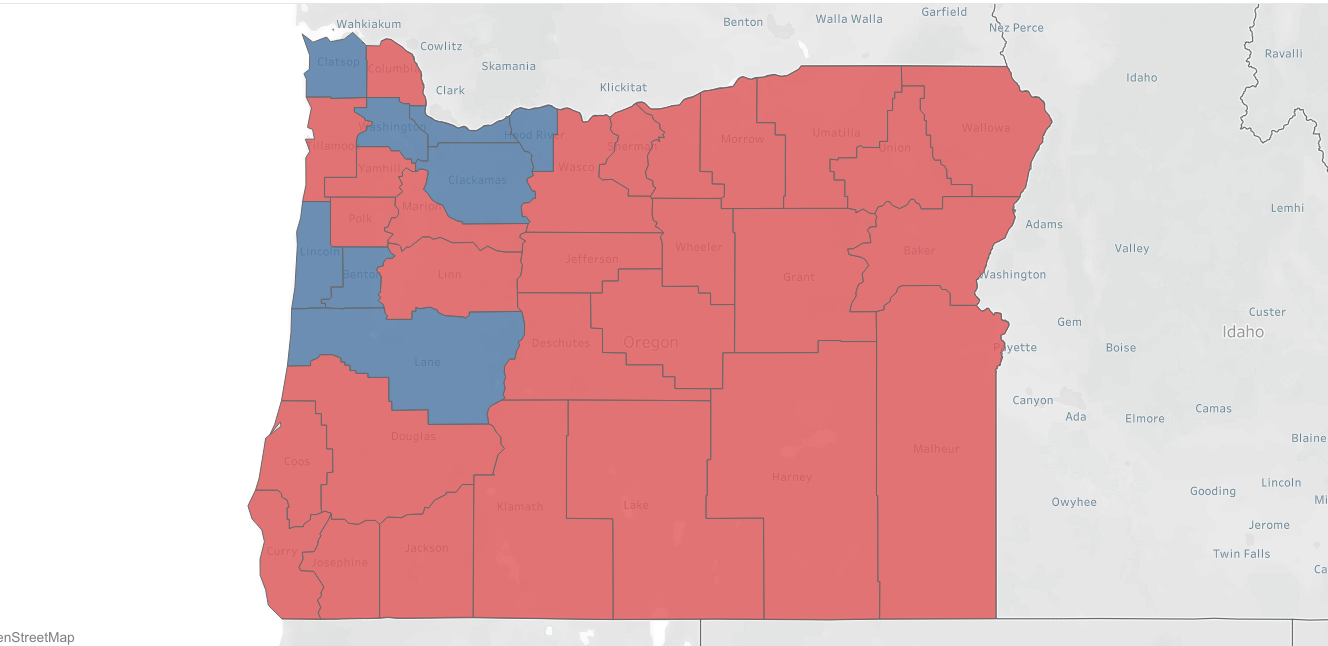 Picture of: Maps How Oregon Counties Voted In 1988 2016 Presidential Elections Koin Com