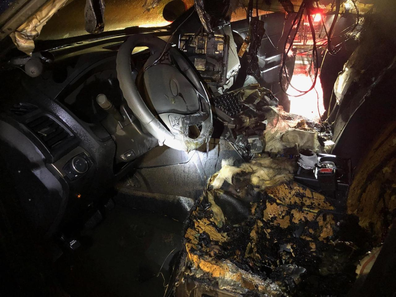 PPB: Arson suspected after empty police car burns