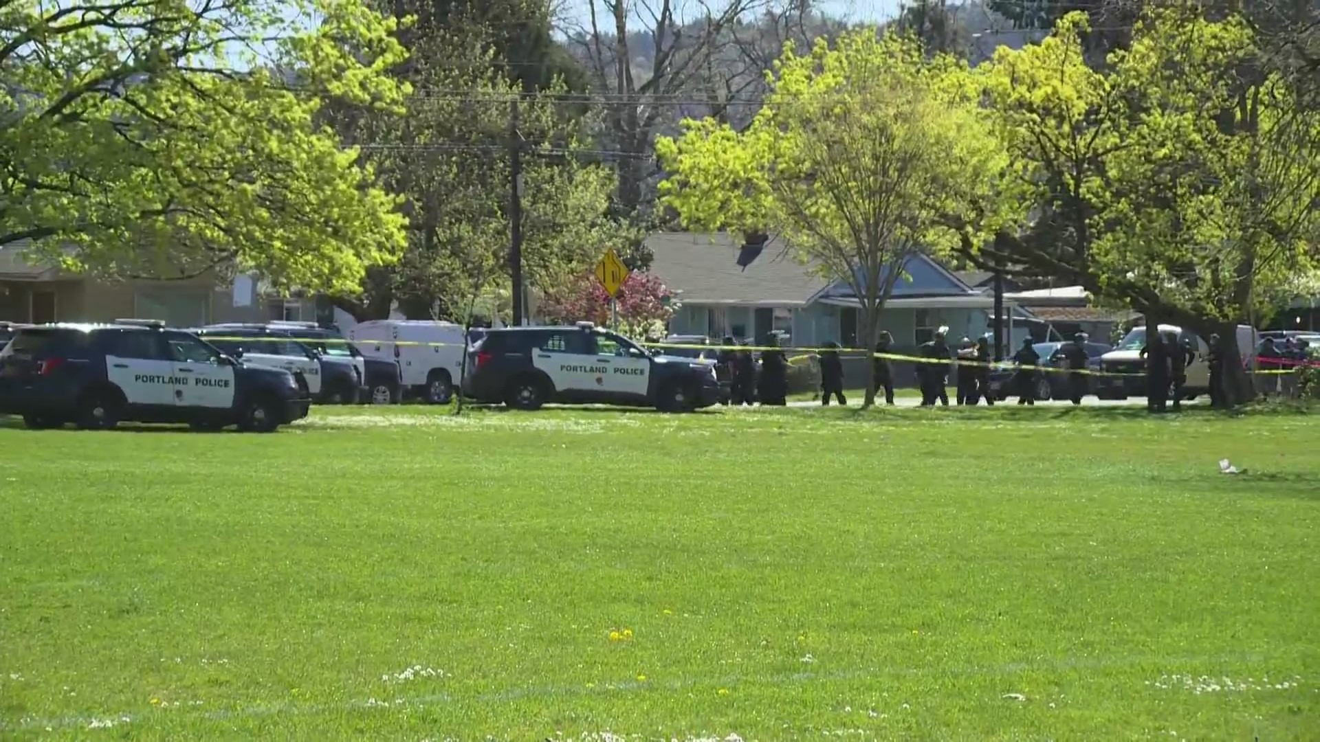 One person was shot by police at Lents Park on April 16, 2021. (KOIN)