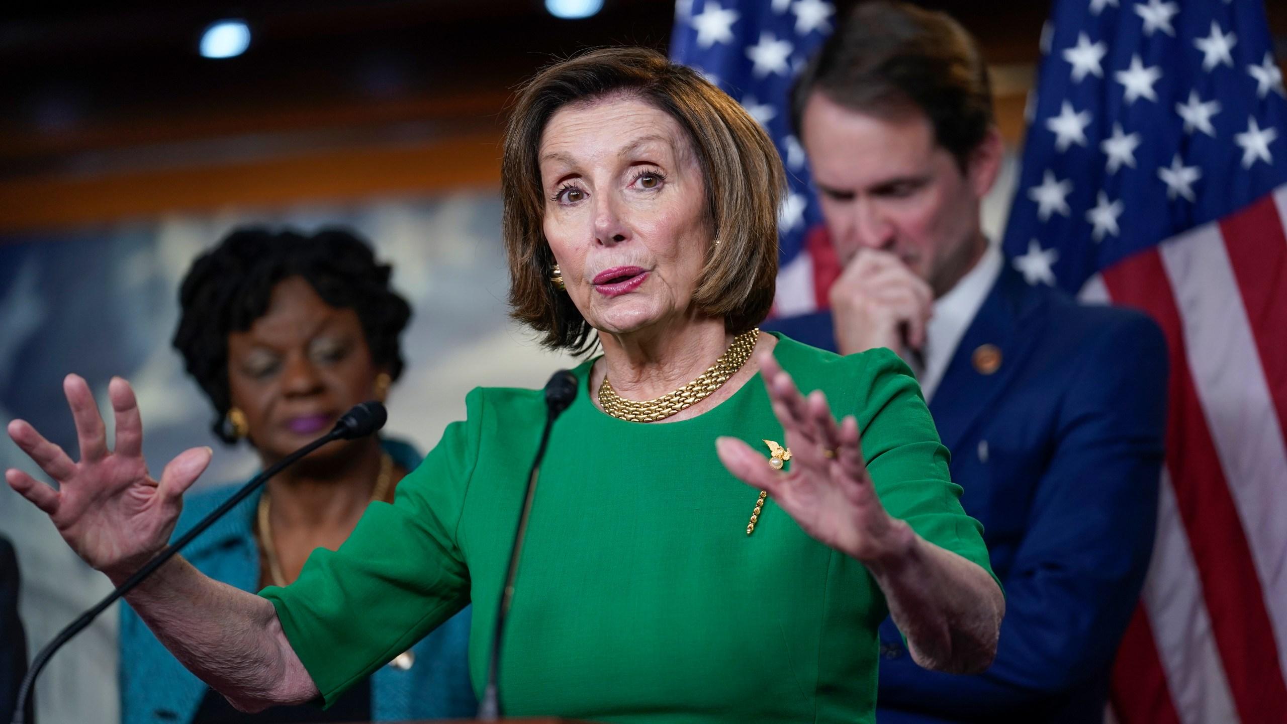 Nancy Pelosi, Jim Himes, Gwen Moore